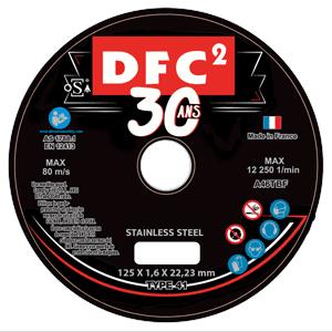 Image produit DISQUE A TRONCONNER 30 ANS DFC2 SIAWEEL  ACIER/INOX - D.125x1.6mm (x25)